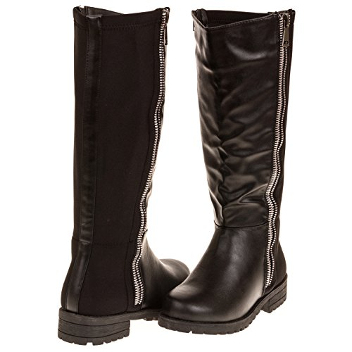 Wide Size Motorcycle Boots - 8