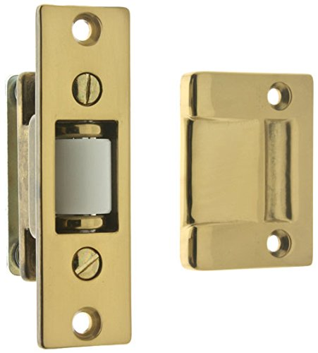 IDHBA idh by St. Simons 12017-3NL Premium Quality Solid Brass Heavy Duty Silent Roller Latch with Adjustable Square Strike, Polished Lacquer