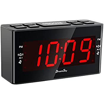 sylvania am fm clock radio with dual alarm clock digital tuning electronics. Black Bedroom Furniture Sets. Home Design Ideas