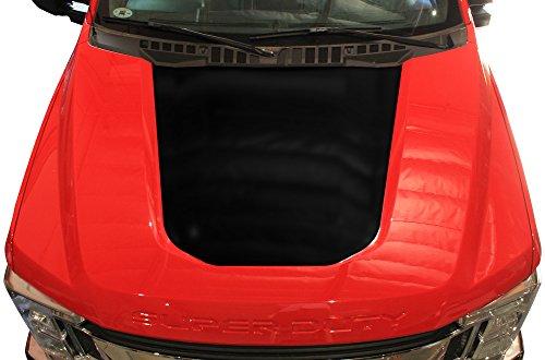 Factory Crafts Ford F-350 2017 Blackout Hood Graphics 3M Vinyl Decal Wrap Kit - Matte Black