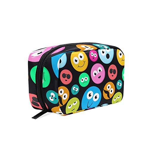 Makeup Bag Rainbow Emoji Cute Colorful Face Cosmetic Pouch Clutch -