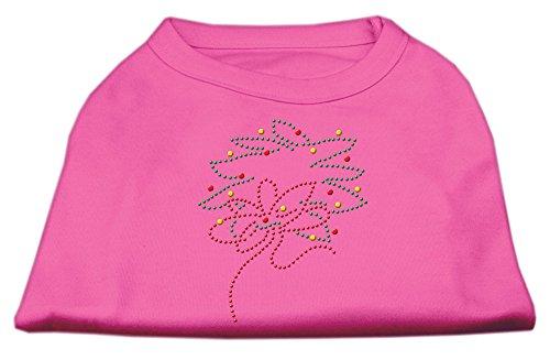 Mirage Pet Christmas Wreath Rhinestone Sleeveless Soft Shirt Bright Pink Small - 10