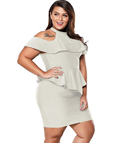 White dresses for plus size women party night sexy