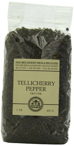 India Tree Tellicherry Pepper, 1 lb (Pack of 2) by India Tree