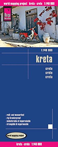 Reise Know-How Landkarte Kreta (1:140.000): world mapping project