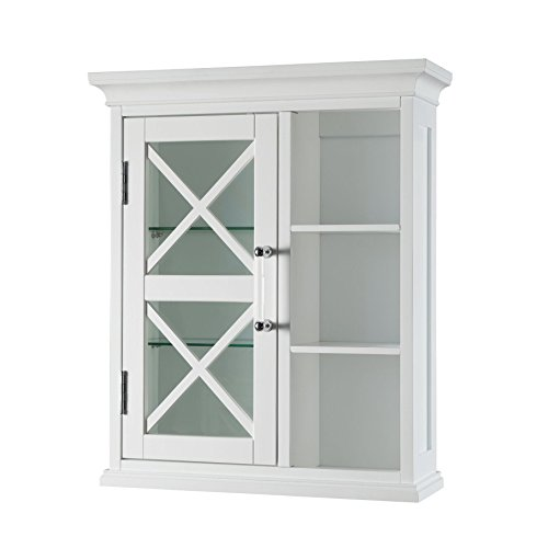 Bath Curio Cabinet (Elegant Home Fashions Grayson Wall Cabinet with one Door and Cubbies by)