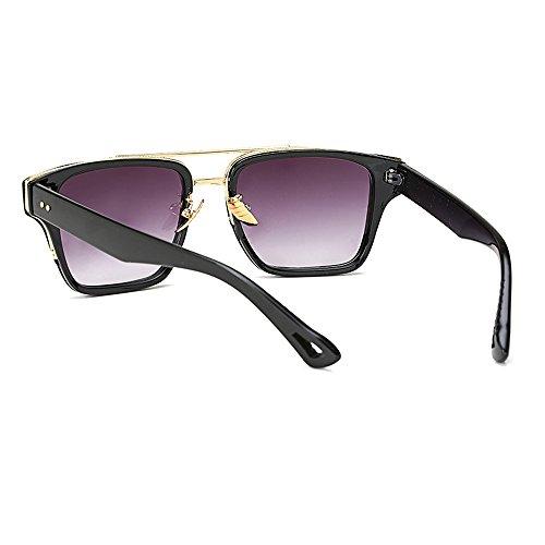 Wayfarer Cuadrado gradiente lente Eye de Unisex con para de de mujer Gafas sol Day Wear Vision estuche Gris negro hombre para Gafas montura diseño Hombres lente rrAwd0