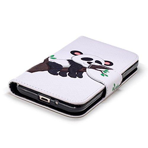 Herbests Pro pour 2018 Cuir à Housse avec J2 Etui pour Galaxy Galaxy Motif J2 Portefeuille Coque Pro Femme Protection Homme Samsung 2018 3 Galaxy 2018 en Pro Coque Panda de Étui Protect J2 Rabat de Etui Fille TBw4Fqx