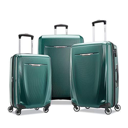 Samsonite Winfield 3 DLX Hardside Luggage, Emerald, 3-Piece Set