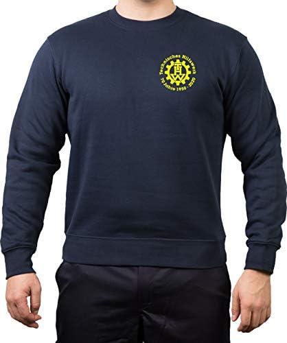 FEUER1 Sweatshirt Navy, 70 Jahre THW -1950-2020 Jubiläumsshirt