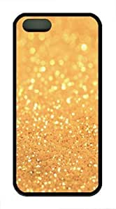 Gold Sand TPU Case Cover for iPhone 5 and iPhone 5s Black by supermalls