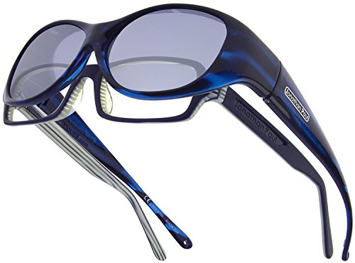Fitovers Eyewear Kiata/Nagari Sunglasses (Teal Stripe, Polarvue - Sunglasses Fitover Paul Jonathan