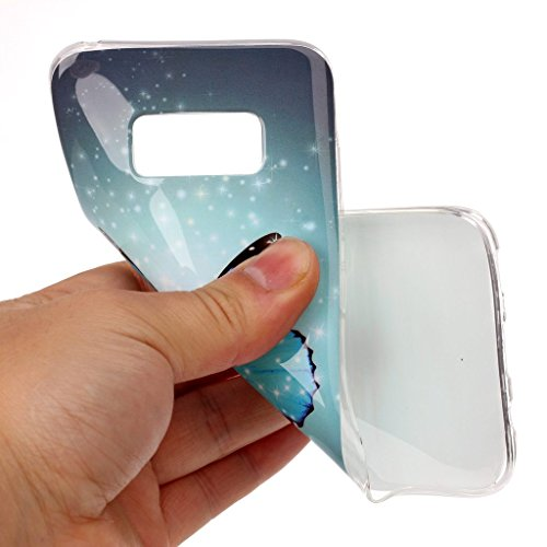Samsung Galaxy S8 Funda , IJIA Ultrafino Noctilucent Personajes de Dibujos Animados TPU Silicona Suave Cover Tapa Caso Parachoques Carcasa Cubierta para Samsung Galaxy S8 XS42