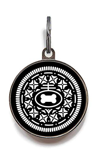 Oreo Dog - Wag-A-Tude Tags Cookie Pet Tag (Large)