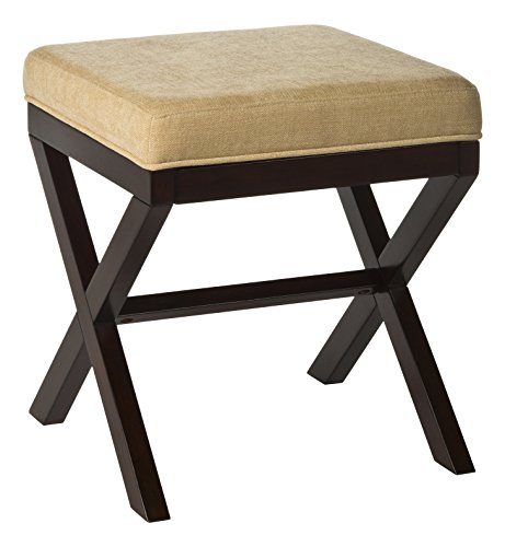Morgan Wood Vanity Stool, Vanity Stool, Traditional, Upholst
