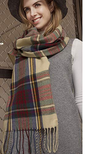 Plaid Pashmina Infinity Scarf for Women - Blanket Scarf Birthday Gifts for Girls Christmas by AKAKING -