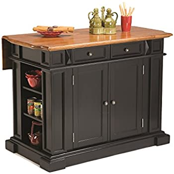 Exceptionnel Home Styles 5003 94 Kitchen Island, Black And Distressed Oak Finish