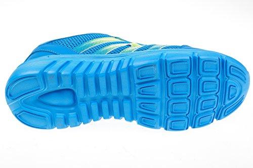 gibra - Zapatillas de sintético/textil para hombre Azul - azul/verde fluorescente