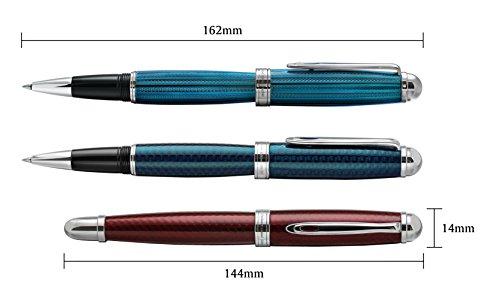 Xezo Freelancer Brass Rollerball Pen, Translucent Lacquer, Diamond-Cut, Blue (Freelancer Blue R) by Xezo (Image #6)