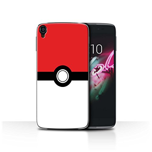 STUFF4 Phone Case / Cover for Alcatel OneTouch Idol 3 4.7 / Red Design / Pokeball Anime Inspired Collection