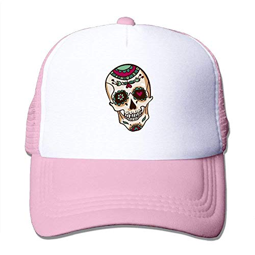 Rose Flowers Skull Adjustable Sports Mesh Baseball Caps Trucker Cap Sun Hats