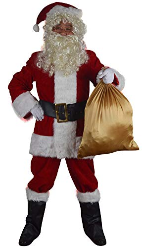 Softsnow Holidays Complete Santa Claus Christmas Suit Costume For Men (S) -