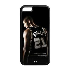 San Antonio Spurs Tim Duncan Image Design Apple iPhone 5C TPU Case-by Allthingsbasketball