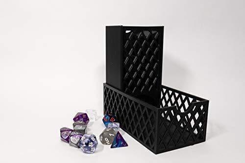 Large Black Lattice Dice Tower Set - 3D Printed