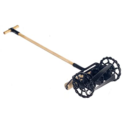 Dollhouse Miniature Rotary Lawn Mower in Black #G8633: Toys & Games