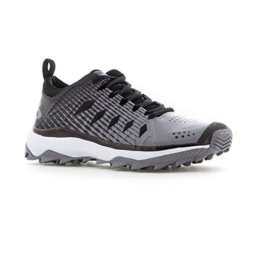 Boombah Womens Squadron Turf Shoes - 14 Opzioni Di Colore - Più Dimensioni Nero / Grigio