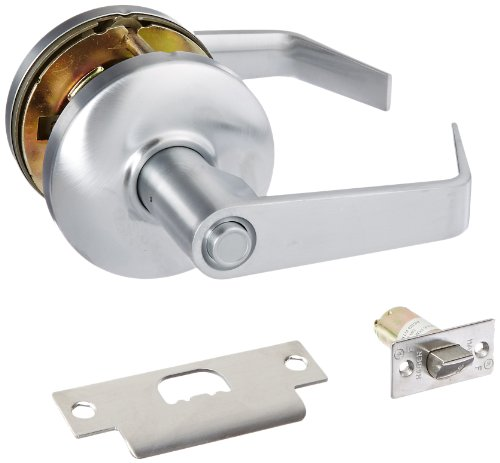 (Hager 3500 Series Heavy Gauge Steel/Zinc Grade 2 Cylindrical Privacy Lock, 2-3/4