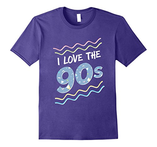 [Mens I Love the 90s Shirt, Retro Colorful T-Shirt 3XL Purple] (90s Themed Outfits)