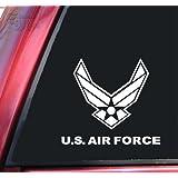 "U.S. Air Force Vinyl Decal Sticker (6"" X 5.3"", White)"