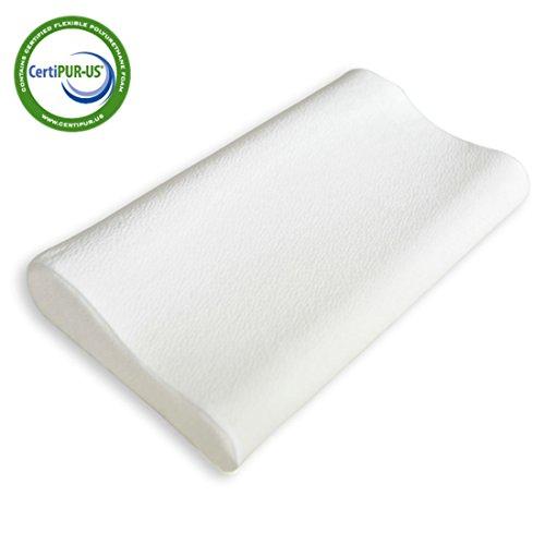 Fy living memory foam cervical contour pillow for neck for Memory foam pillow for neck pain