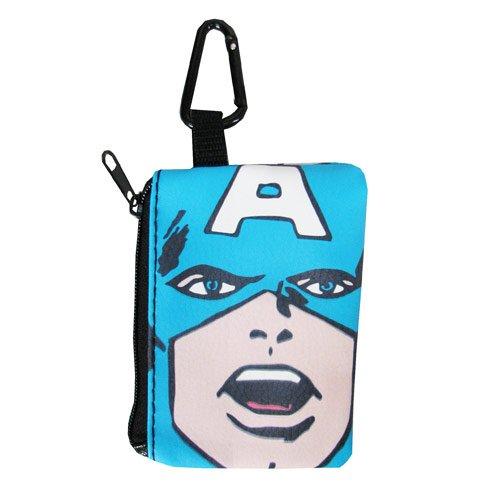 Coin Purse - Captain America - Marvel Key Ring Coin & Card Case (Captain America Purse)