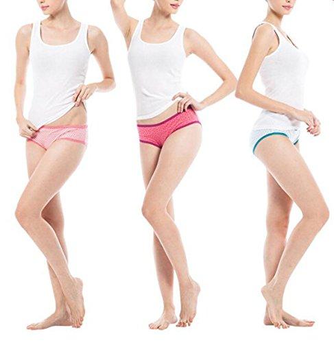 Las Mujeres La Ropa Interior Elástico De Impresión Shu Piel Suave Y Transpirable Cintura Baja Atractiva Briefs (2 Paquetes) A4