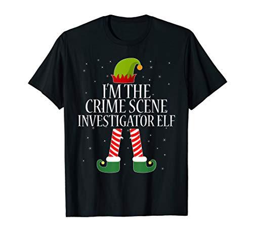 Crime Scene Investigator Elf Tshirt Funny Christmas Tee Gift -