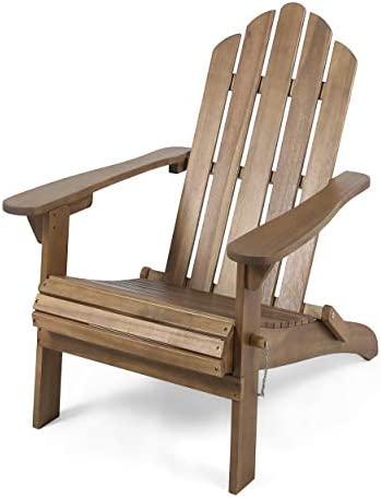 Christopher Knight Home 305374 Cara Outdoor Foldable Acacia Wood Adirondack Chair