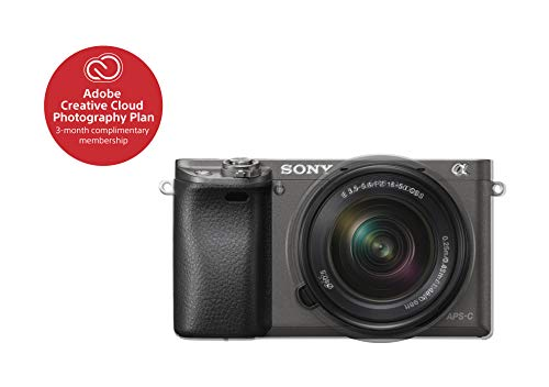 Sony Alpha a6000 Mirrorless Digital Camera with 16-50mm Lens, Graphite (ILCE-6000L/H) For Sale