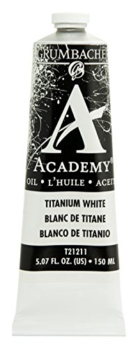 Grumbacher Academy Oil Paint, 150 ml/5.07 oz, Titanium White