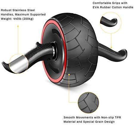 Bauchmuskeltraining Muskeltrainer Bauchroller f/ür Fitness Cyiecw Ab Wheel Roller mit Kniematte Muskelaufbau Training zu Hause