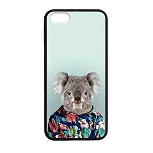 At-Baby Iphone 5 Case Koala In T-shirt Pattern Iphone 5 5S Protective Case Cover (Laser Technology)