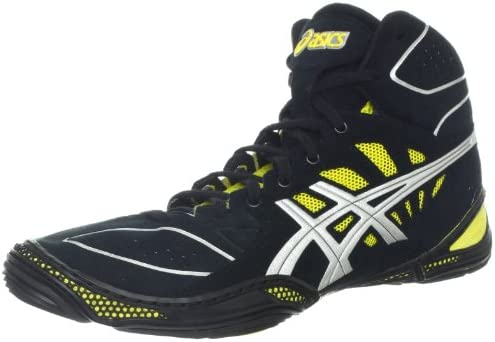 yellow asics wrestling shoes