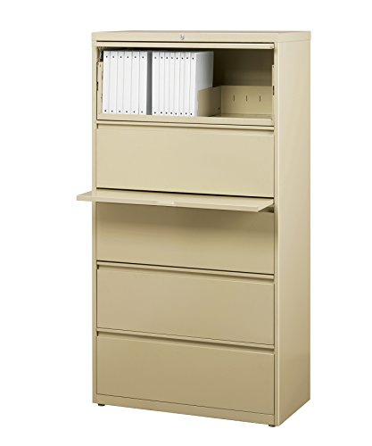 Office Dimensions Commercial 5-Drawer Lateral File with Full Width Pull, 30-Inch Wide, Putty