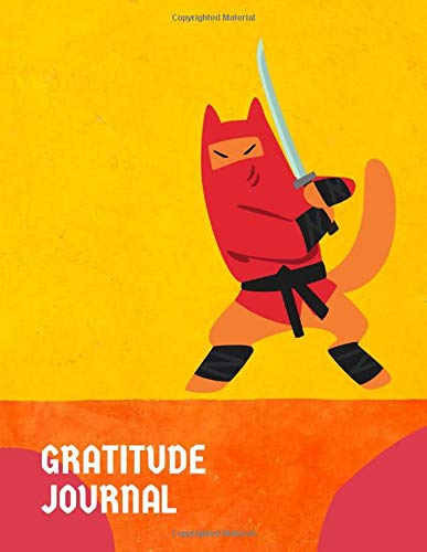 Gratitude Journal - Ninja Dog Fighting With A Katana Sword: 8.5x11 Inches Cute Daily Ninja Gratitude Journal For Kids, Ninja Lover Gift Ideas, Birthday Novelty Gift Ideas For Boys, Thankful Journal