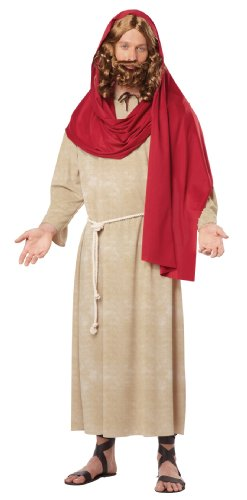 Jesus Halloween Costumes (California Costumes Men's Jesus Adult, Tan/Red, Medium)
