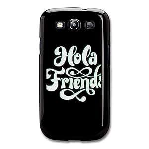 Friends C3J3HK1N Caso funda Samsung Galaxy S3 Caso funda Negro