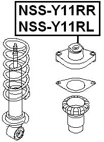 55321-Wa003 Left Rear Shock Absorber Support For Nissan 55321Wa003