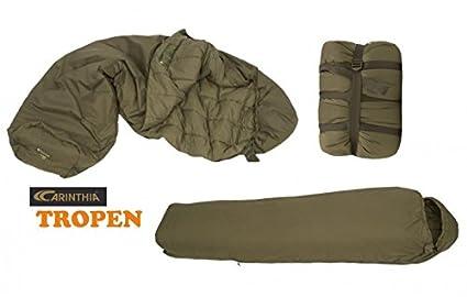Carinthia supervivencia de saco de dormir Tropen M. Red 200 cm Arena Faben Militar Saco de dormir del ejército alemán: Amazon.es: Deportes y aire libre