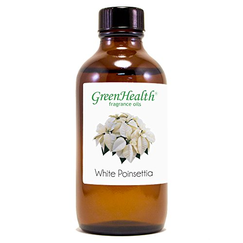 4 fl oz White Poinsettia Fragrance Oil (Glass Bottle w/Cap) - GreenHealth